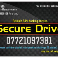 secure drive business card
