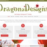dragonz designs web page preview